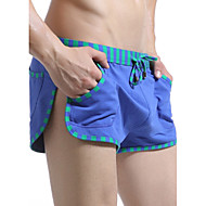 Men's Sporty Green Blue Dark Gray Swim Trunk Bottoms Swimwear - Color Block Patchwork M L XL Green / Summer / 1 Piece / Super Sexy