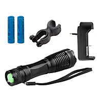 LED Flashlights / Torch 4000 lm 5 Mode Cree XM-L T6 Adjustable Focus Impact Resistant Nonslip grip Rechargeable Waterproof Bike Bicycle Front Light