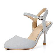 baratos Sapatos de Tamanho Pequeno-Feminino / Para MeninasSaltos / Bico Fino-Salto Agulha-Azul / Prateado / Dourado-Materiais Customizados-Casamento / Social / Festas &