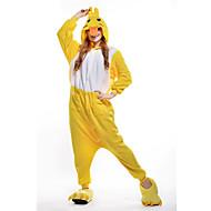 Χαμηλού Κόστους New Cosplay®-Ενηλίκων Πιτζάμα Kigurumi Πάπια Πιτζάμα Onesie Στολές Πολική Προβιά Κίτρινο Cosplay Για ζώο Πυτζάμες Κινούμενα σχέδια Απόκριες Γιορτές / Διακοπές / Χριστούγεννα
