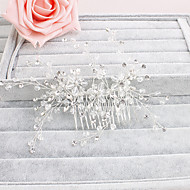 ieftine Șic Floral-Cristal Îmbrăcăminte de păr Veșminte de cap with Floral 1 buc Nuntă Ocazie specială Casual Birou și carieră În aer liber Diadema