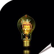 billige Glødelampe-1pc 25W E27 E26/E27 E26 A60(A19) Varm hvit K Glødende Vintage Edison lyspære AC 110-130V AC 220-240V V