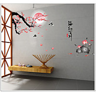 Botanical / Still Life / Florals Wall Stickers Plane Wall Stickers,pvc 60*90cm