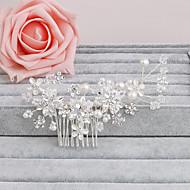 abordables Tiaras boda/novia-peine del pelo de la perla del partido del banquete de boda elegante estilo femenino