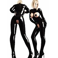 Flere Kostumer Cosplay Kostumer Dame Sexede Uniformer Flere Uniformer Karneval Nytår Festival / Højtider Halloween Kostumer Udklædning Sort Ensfarvet