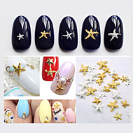 Smuk-Finger / Tå-Andre Dekorationer-3mm and 5mm-50pcs Mix color sizes Starfish Nail Decorations