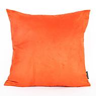 1pc 45 * 45cm orange suede pudebetræk hjem dekorationer