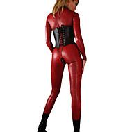 Dame Sexy Uniformer Kjønn Catsuit Ensfarget Trikot / Heldraktskostymer