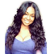 נשים פיאות תחרה משיער אנושי שיער אנושי חלק U 130% צְפִיפוּת גלי פאה צבע טבעי בינוני ארוך שיער טבעי לנשים שחורות 100% קשירה ידנית