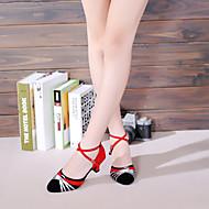 billige Moderne sko-Dame Latin Glimtende Glitter Paljett Fløyel Syntetisk Sandaler Joggesko Høye hæler Innendørs Paljett Appliqué Gummi Uthult Bølgemønster