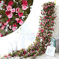 cheap Artificial Flowers-230CM 51Heads Flower High Fidelity Rose Flower Rattan Home Decoration
