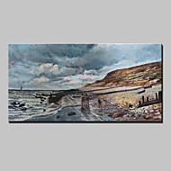 billiga Landskapsmålningar-Hang målad oljemålning HANDMÅLAD - Landskap Klassisk Duk