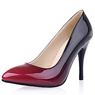 cheap Women's Heels-Women's Shoes Patent Leather / Leatherette Spring / Summer Stiletto Heel Yellow / Red / Almond / Party & Evening / Dress / Party & Evening