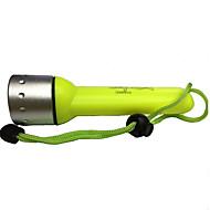 Lanternas de Mergulho LED 350lm 1 Modo Iluminação Recarregável / Impermeável Mergulho / Náutica / Multifunções Amarelo