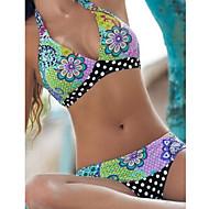 Kvinders Polyester Bandeau Blomstret Bikini BH med indlæg