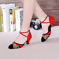 baratos Sapatilhas de Dança-Mulheres Sapatos de Dança Latina Glitter / Paetês / Sintético Sandália / Salto Interior Lantejoulas / Apliques / Gliter com Brilho Salto