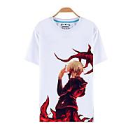Inspirado por Tokyo Ghoul Ken Kaneki Anime Fantasias de Cosplay Cosplay T-shirt Estampado Manga Curta Blusa Para Masculino