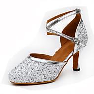 Dame Moderne Glitter PU Høye hæler Innendørs Spenne Tvinning Gull Sølv Blå Kan spesialtilpasses