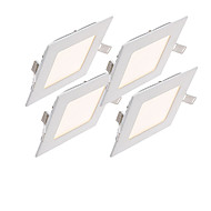 billige Innfelte LED-lys-Jiawen 4pcs ledet panel lys firkant ultra tynt downlight 12w led tak innfelt lys for innendørs belyse ac85-265v