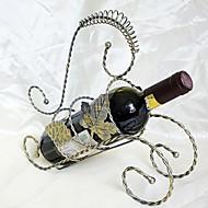 אופנת יין לתיקים יצירתית ברזל מחושל מסגרת עלה גפן