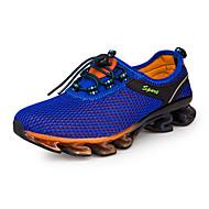 baratos Sapatos Masculinos-Homens Tule Primavera / Outono Conforto Tênis Corrida Azul Escuro / Azul Real