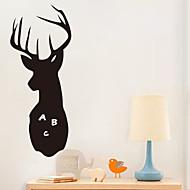 halpa -Eläimet / Piirretty / Romantiikka / Liitutaulu / Muoti / Loma / Maisema / Muodot / Fantasia Wall Tarrat Liitutaulutarrat,PVC60cm x 23cm (