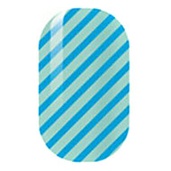 Blue Hollow Nail Stickers