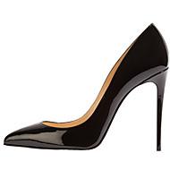 baratos -0.6-Mulheres Sapatos Couro Envernizado Primavera / Verão Salto Agulha Rosa claro / Amêndoa / Coral / Casamento / Festas & Noite