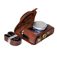 dengpin® pu de couro da câmera cover saco caso para x70 Fujifilm (cores sortidas)