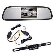 """billiga Parkeringskamera för bil-4,3 """"TFT LCD-monitor bil backspegel wireles 170 ° backup backkamera kit mörkerseende"""