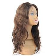 жен. Парики из натуральных волос на кружевной основе Натуральные волосы Полностью ленточные Лента спереди Бесклеевая сплошная кружевная