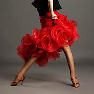 cheap Dancewear & Dance Shoes-Latin Dance Tutus & Skirts Women's Performance Spandex Crystals/Rhinestones Flower Natural Skirt