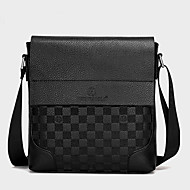 cheap Shoulder Bags-Men's Bags PU Crossbody Bag for Shopping Casual Formal Office & Career All Seasons Black Brown Khaki