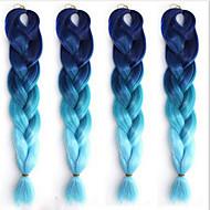 Otros Recto Pelo sintético 1,8 Metros La extensión del pelo Extensión con Micro anillo Negro Azul 1 Pieza Rizador y enderezador Mujer Halloween Fiesta