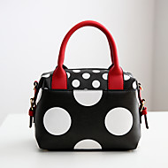 Women Bags PU Tote for Casual Formal Summer All Seasons White Black