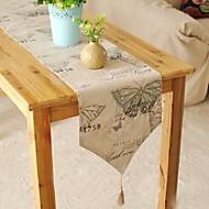 Obdélníkový Se vzorem stolní ubrus , Směs lnu a bavlny Materiál Tabulka Dceoration
