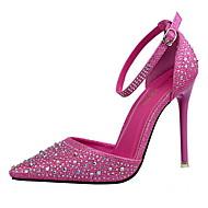 Mujer Zapatos Semicuero Invierno Pump Básico Tacones Tacón Stiletto Dedo Puntiagudo Negro / Marrón / Borgoña / Fiesta y Noche / Vestido 9vr7S