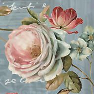 Blumen Tapete Für Privatanwender Zeitgenössisch Wandverkleidung ,  Leinwand Stoff Klebstoff erforderlich Wandgemälde ,