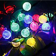 お買い得  LEDライトストリップ-6m ストリングライト 30 LED Dip LED 温白色 / RGB / ホワイト 充電式 / 防水 100-240 V / # / IP44