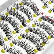 Gene Geană Gene False Geană În Cruce Lungime Naturală Extins Gene Întoarse Volum Mărit Natural Confecționat Manual Fibră Transparent Band