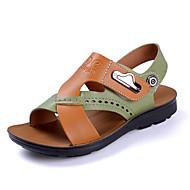 男の子 靴 PUレザー 夏 コンフォートシューズ サンダル ベックル 用途 カジュアル ホワイト ブラウン グリーン