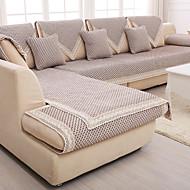 algodão / linho grosso antiderrapante slipcover moda quatro estações tecido de sofá almofada cor de café graciosa velho