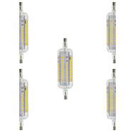 billige Kornpærer med LED-4W 350-400 lm R7S LED-kornpærer T 60 leds SMD 2835 Vanntett Dekorativ Varm hvit Kjølig hvit AC 220-240V