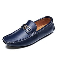 cheap Men's Slip-ons & Loafers-Men's Moccasin Nappa Leather Spring / Summer / Fall Loafers & Slip-Ons Orange / Dark Blue / Outdoor / Office & Career