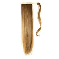 halpa -24 tuumainen Mansikkablondi Clip In Suora Poninhännät Kietoa Synthetic Hiuspalanen Hiusten pidennys