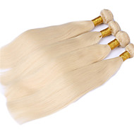 Gerçek Saç Düz Brezilya Saçı İnsan saç örgüleri Düz Saç uzatma 3 Parça Blonde