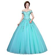 Plesové šaty Princess Na zem Tyl Formální večer Šaty s Aplikace Křišťály podle SG