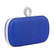 cheap Clutches & Evening Bags-Women's Bags Glitter Evening Bag / Cover Ruffles Metallic Silver / Red / Royal Blue