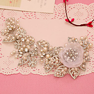 billiga Brudhuvudbonader-Tyll Oäkta pärla Bergkristall pannband 1 Bröllop Speciellt Tillfälle Hårbonad