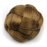 kinky krøllete gull menneskelige hår blonder parykker chignons 2005